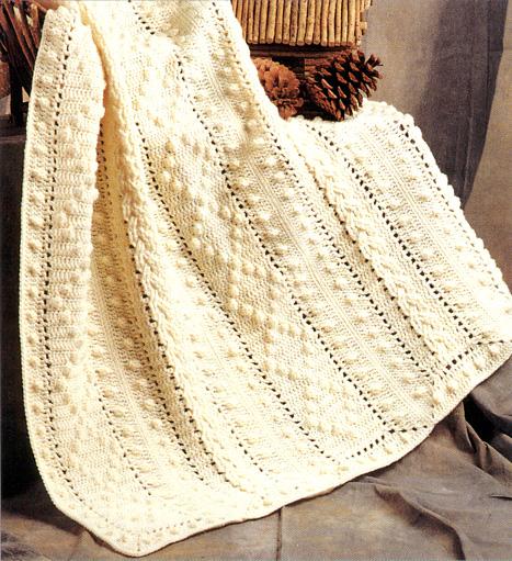 Crochet Pattern Aran Afghan : Click on image below to enlarge.